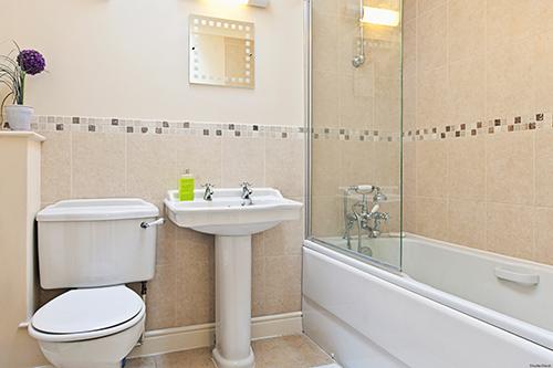 Chẳng có loại nấm mốc nào có thể sinh sôi trong một phòng tắm như thế này cả