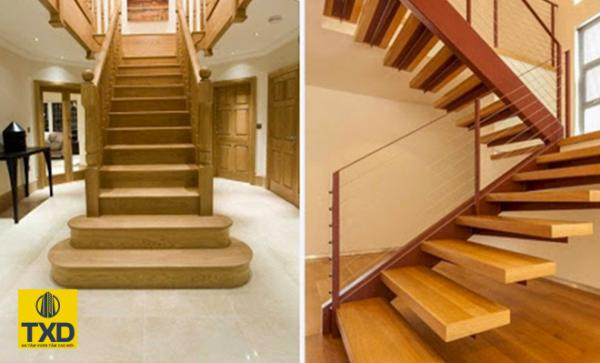 Cầu thang trong nhà có cầu thang chính phụ khác nhau