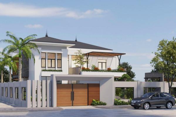 Ngôi nhà được xây dựng hoàn chỉnh
