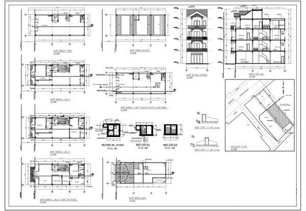 Bản vẽ thiết kế ngôi nhà