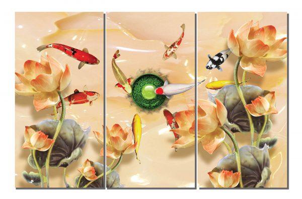 Tranh Cửu Ngư (9 con cá)