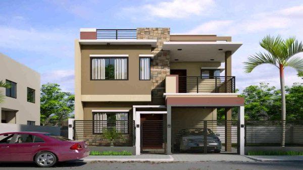 Mẫu thiết kế nhà 2 tầng sang trọng