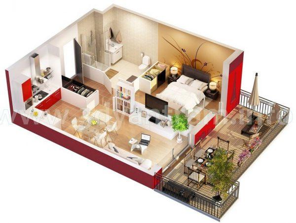Thiết kế ngôi nhà nhỏ gọn, xinh xắn